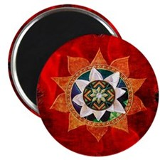 Lotus flower with decorative floral jeweled center