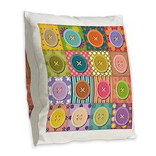 Cute Sew Burlap Throw Pillow