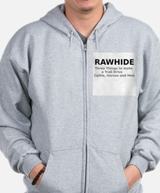 Rawhide Three Things to make a Trail Drive Zip Hoodie