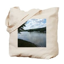 Coosa River Gadsden Alabama Geese Landsca Tote Bag
