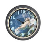 Morning Glory Fairy Wall Clock
