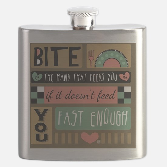 Bite the Hand that Feeds You Flask