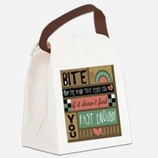 Bite the Hand that Feeds You Canvas Lunch Bag