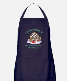 Personalized First Christmas As Mr & Mrs Apron (da