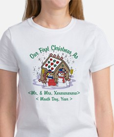 Personalized First Christmas As Mr & Mrs Women's T