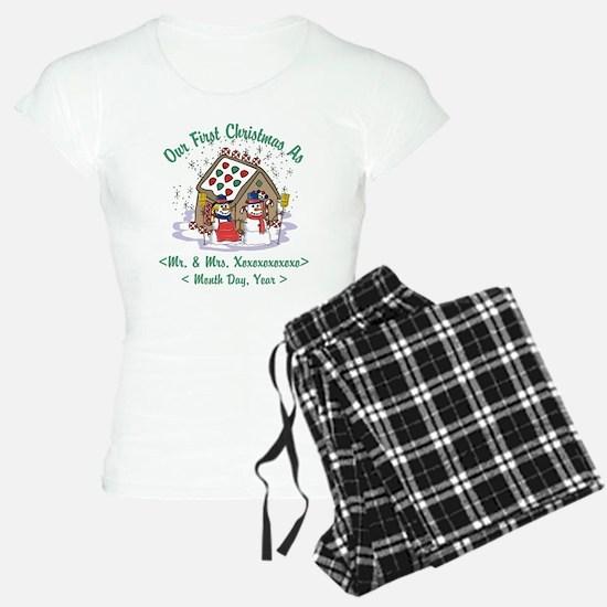 Personalized First Christmas As Mr & Mrs Pajamas