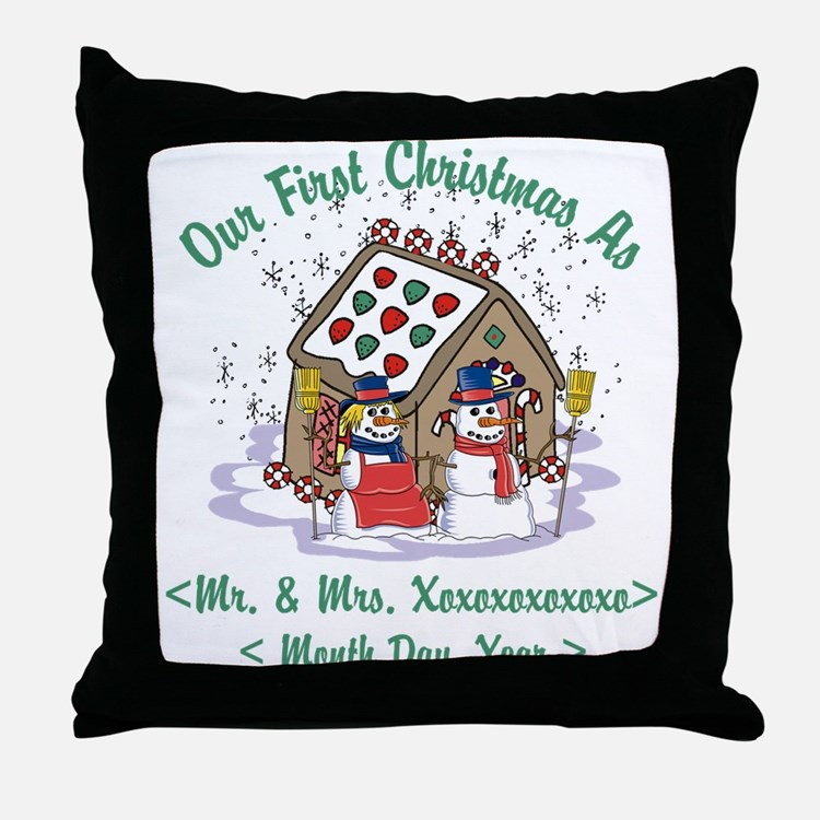 Personalized First Christmas As Mr & Mrs Throw Pil