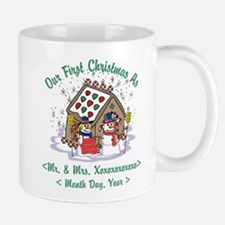 Personalized First Christmas As Mr & Mrs Small Mugs