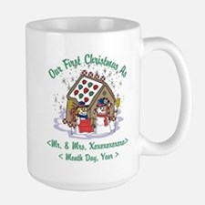 Personalized First Christmas As Mr & Mrs Large Mug
