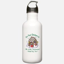 Personalized First Christmas As Mr & Mrs Water Bottle