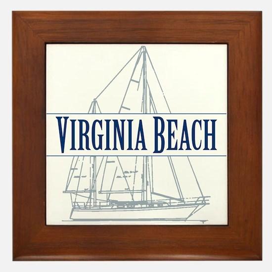 Virginia Beach - Framed Tile