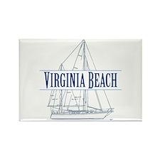 Virginia Beach - Rectangle Magnet