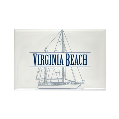 Virginia Beach - Rectangle Magnet