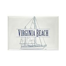 Virginia Beach - Rectangle Magnet (100 pack)