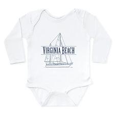 Virginia Beach - Long Sleeve Infant Bodysuit