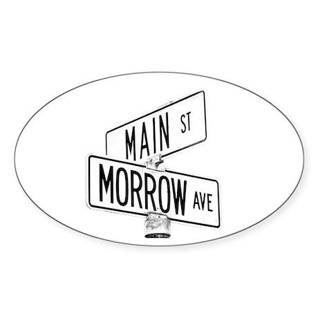 morrow and main Oval Sticker