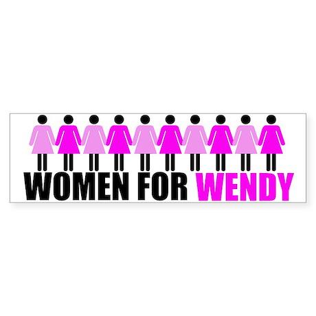 Women for Wendy Davis Sticker (Bumper)