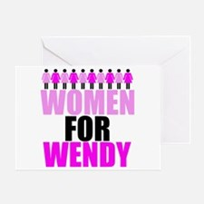 Women for Wendy Davis Greeting Card