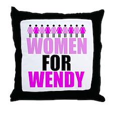 Women for Wendy Davis Throw Pillow