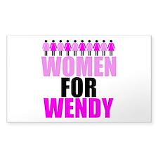Women for Wendy Davis Decal