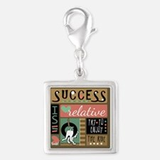 Success is Relative Silver Square Charm