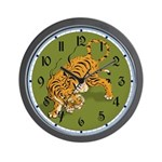 Asian Tiger Wall Clock