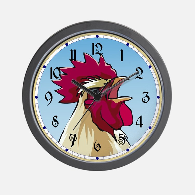 Crowing Rooster Wall Clock