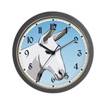 White Mule Wall Clock