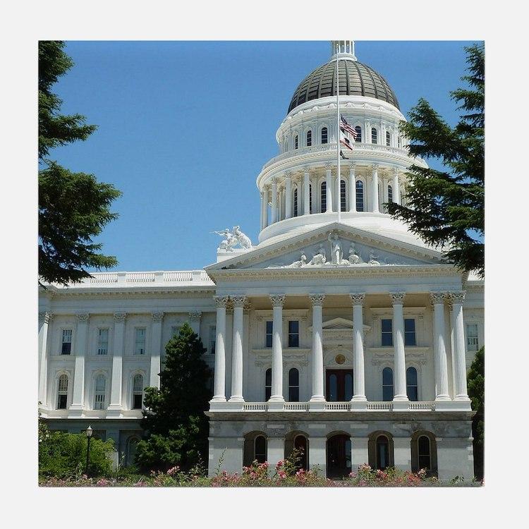 California State Capitol Building Sac Tile Coaster
