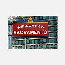 Welcome to Sacramento California  Rectangle Magnet