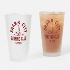 Vintage Shark City Surfing Club Drinking Glass