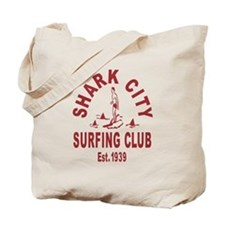 Vintage Shark City Surfing Club Tote Bag