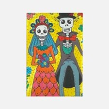 Day of the Dead Wedding Couple Magnets