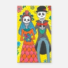 Cute Sugar day of the dead Rectangle Car Magnet