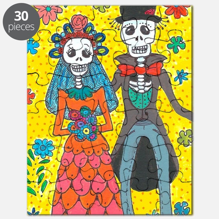Cute Day of the dead skeleton Puzzle
