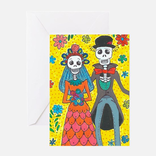Day of the Dead Wedding Couple Greeting Cards