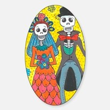 Day of the Dead Wedding Couple Decal