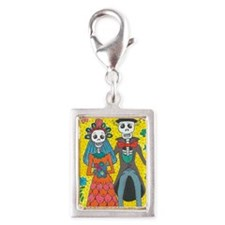 Day of the Dead Wedding Couple Charms