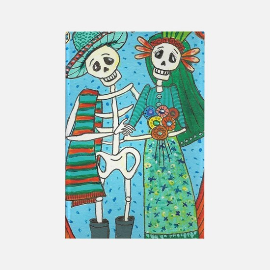 Day of the Dead Wedding Couple Rectangle Magnet