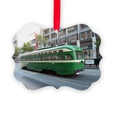 San Francisco Street Car Photo Tr Ornament
