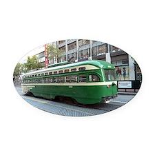 San Francisco Street Car Photo Tra Oval Car Magnet