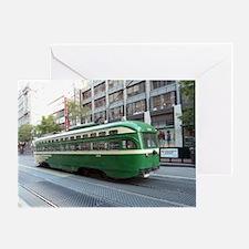 San Francisco Street Car Photo Trans Greeting Card
