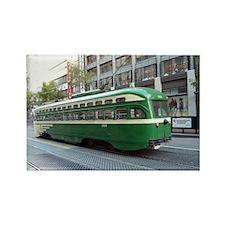 San Francisco Street Car Photo Tr Rectangle Magnet