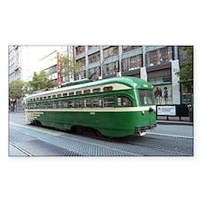 San Francisco Street Car Photo Decal