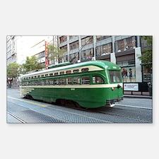 San Francisco Street Car Photo Sticker (Rectangle)