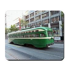 San Francisco Street Car Photo Transport Mousepad