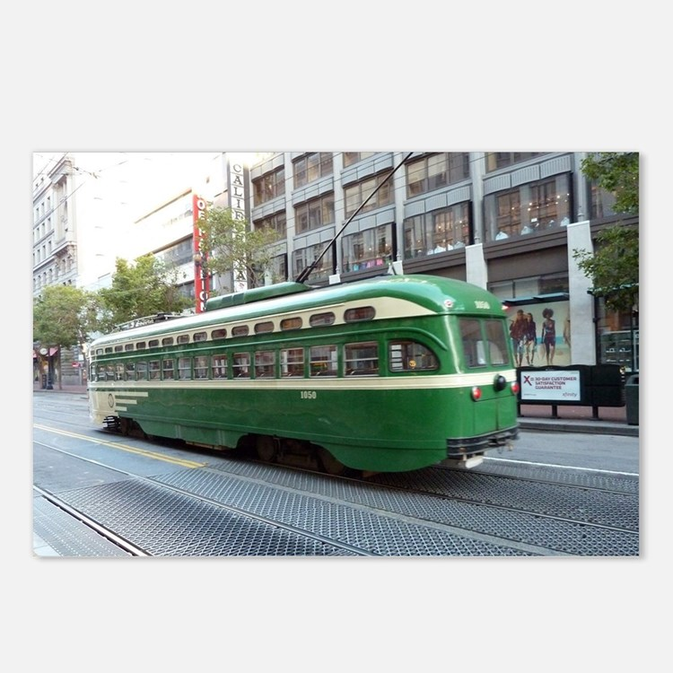 San Francisco Street Car  Postcards (Package of 8)