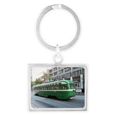 San Francisco Street Car Photo  Landscape Keychain