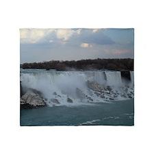 Niagara Falls Waterfall Photo Canada Throw Blanket