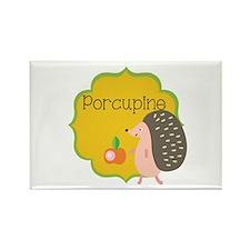 Porcupine Rectangle Magnet